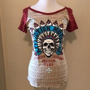 Affliction tee size small .   NWT